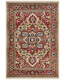 Quentin LRL1298C Red and Beige 9' X 12' Area Rug
