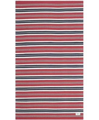 Leopold Stripe LRL2462E Red 8' X 10' Area Rug