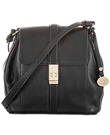 Brahmin Margo Black Newbury Leather Crossbody Bag