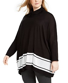 Plus Size Pull-Over Poncho Sweater
