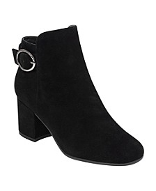 Brandy Block-Heel Booties