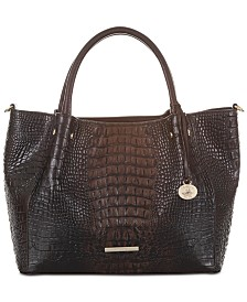 Brahmin Mallory Sparrow Leather Satchel