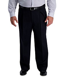 Men's Big & Tall Iron Free Premium Khaki Classic-Fit Pleated Pant