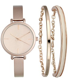 INC Women's Rose Gold-Tone Bangle Bracelet Watch 34mm & Matching Bracelets Set, Created for Macy's