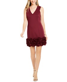 Donna Ricco Ruffle-Hem Sheath Dress