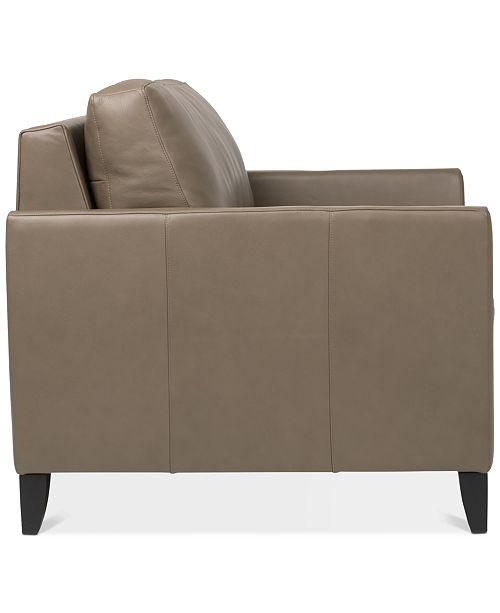 Priley 48 Leather Twin Sleeper Sofa
