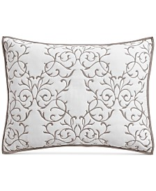 Martha Stewart Collection Cotton Chateau Standard Sham, Created for Macy's
