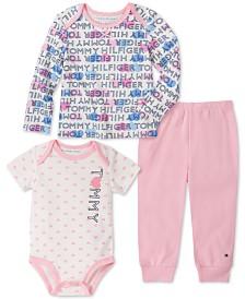 Tommy Hilfiger Baby Girls 3-Pc. Top, Bodysuit & Leggings Set