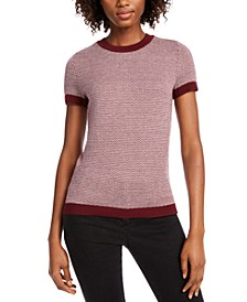 Ribbed Ringer Short-Sleeve Sweater, Created for Macy's