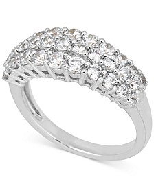 Diamond Three-Row Anniversary Band (1-1/2 ct. t.w.) in 14k White Gold