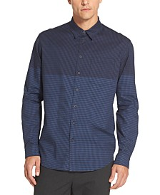 DKNY Men's Two Tone Gingham Shirt