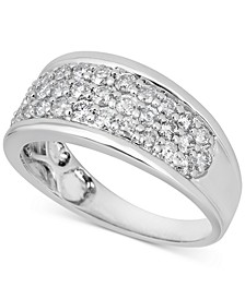 Diamond Cluster Band (1 ct. t.w.) in 14k White Gold