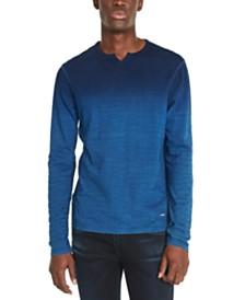 Buffalo David Bitton Men's Kisap Dip-Dyed Split-Neck T-Shirt