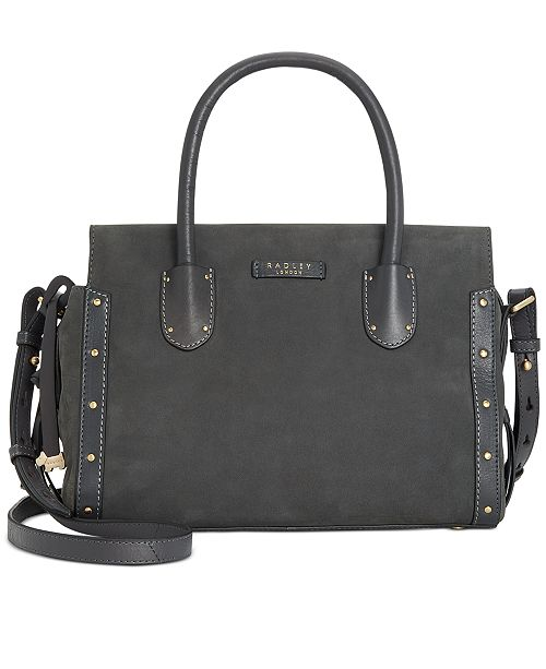 Radley London Zip-Top Studded Multiway Leather Satchel