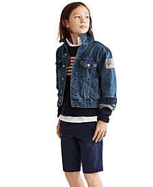 Big Boys Denim Cotton Trucker Jacket