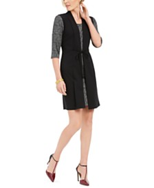 Connected Petite Faux-Jacket Dress