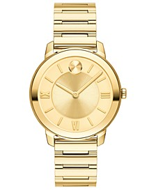 Women's Swiss Bold Gold Ion-Plated Stainless Steel Bracelet Watch 32mm