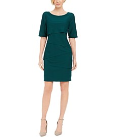 Petite Zig-Zag Sheath Dress