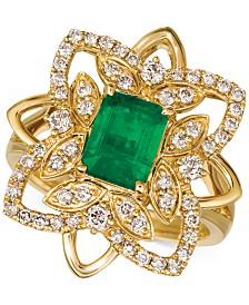 Le Vian® Costa Smeralda Emerald (1-1/5 ct. t.w.) & Nude Diamond (5/8 ct. t.w.) Statement Ring in 14k Gold