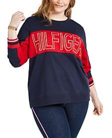 Plus Size Colorblocked Logo Sweatshirt