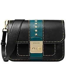 Sloan Editor Star Studded Leather Shoulder Bag