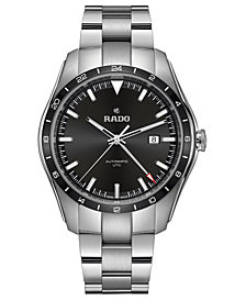 LIMITED EDITION Rado Swiss Automatic HyperChrome Stainless Steel Bracelet Watch 44mm, Created for Macy's