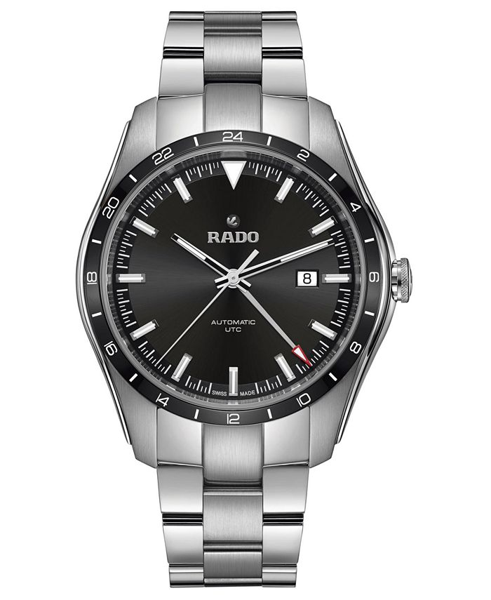 Rado - Men's Swiss Automatic HyperChrome Stainless Steel Bracelet Watch 44mm
