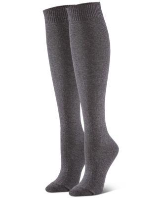 Ladies 8-12 Blue Black Glitter Star Over Knee Socks Hold Ups