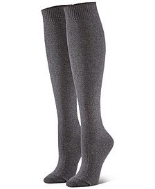 Women's 3-Pk. Flat-Knit Knee Socks