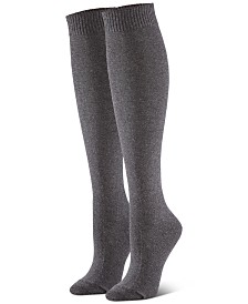 HUE® Women's 3-Pk. Flat-Knit Knee Socks