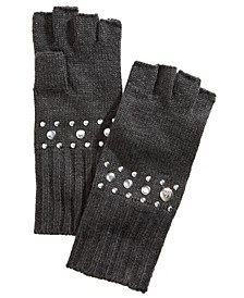 Dome-Stud Fingerless Gloves