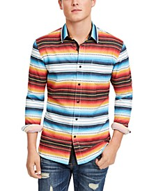 Men's Frequency Striped Shirt, Created For Macy's