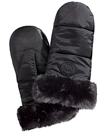 Ski Mittens With Faux-Fur Trim