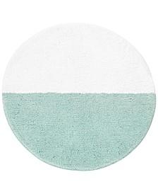 """Half Dot Cotton 24"""" Round Bath Rug"""