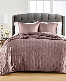 Tufted Satin Quilt and Sham Collection, Created for Macy's