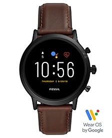 Tech Gen 5 Carlyle HR Brown Leather Strap Smart Watch 44mm