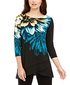Layered Crossover-Hem Tunic Top, Created for Macy's