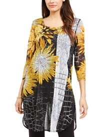 Alfani Printed Semi-Sheer Tunic, Created for Macy's