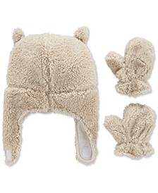 Baby Boys 2-Pc. Faux Sherpa Hat & Mittens Set