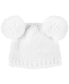 Baby Girls Knit Pom Pom Hat