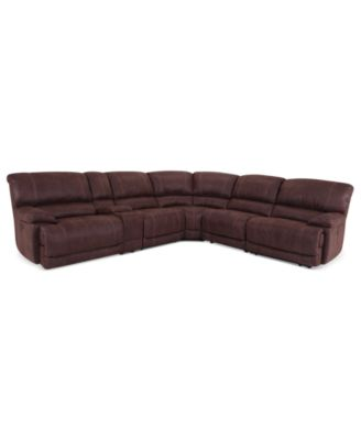 jedd 6pc fabric sectional sofa with 2 power recliners created for macyu0027s
