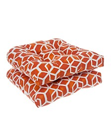 EF Home Decor Indoor/Outdoor Reversible Wicker Seat Cushions 2 Pack