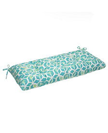 EF Home Decor Indoor/Outdoor Reversible Tufted Loveseat/Bench Cushion With Ties, Inbox