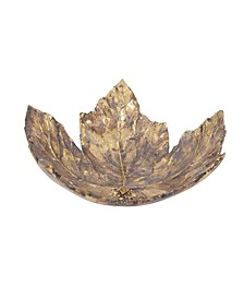 Antique Gold Maple Leaf Tray- Large