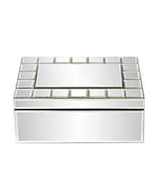 Mirrored Rectangular Jewelry Box