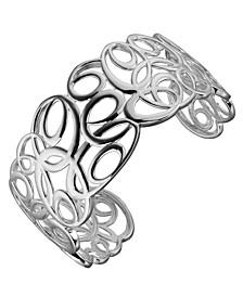 Sterling Silver Swirl Design Cuff Bracelet