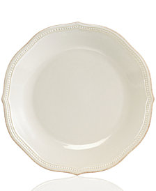 Lenox Dinnerware, French Perle Bead White Dinner Plate