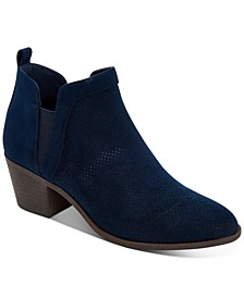 Women's Myrrah Perforated Ankle Booties, Created for Macy's