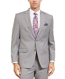 Lauren Ralph Lauren Men's Classic-Fit UltraFlex Stretch Light Gray Stripe Suit Separate Jacket