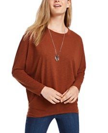 BCX Juniors' Dolman-Sleeve Sweater